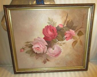 ORIGINAL ROSE PAINTING by Jessie Halstead