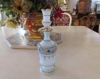 SATIN GLASS DECANTER with Stopper
