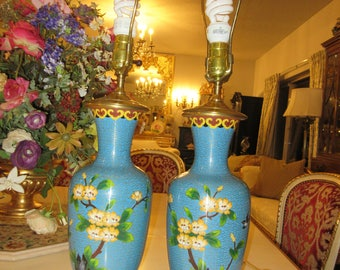 CLOISONNE LAMPS with Shades
