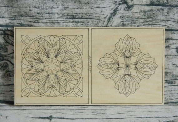 Practice basswood board for practicing chip carving and