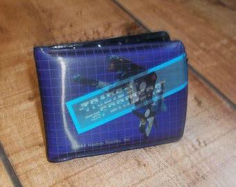 TRANSFORMERS Wallet 1984 G1 Ravage Lenticular Hologram Holographic Decepticon, Autobots, Optimus Prime, Purple Hasbro Bradley