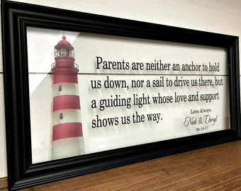 Wedding Gifts for Parents, Gifts for Parents, Wedding Gift Ideas, Father of the Bride Gift, Mother of the Groom Gift, Mother In Law Gift,
