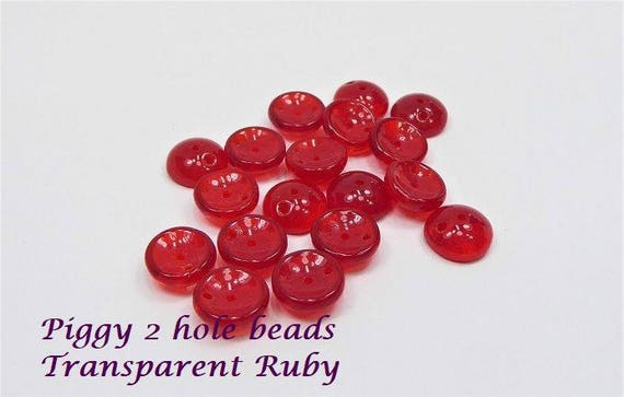 Piggy Beads 2 hole 25 pieces pack
