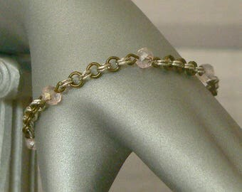 Pink Chain Mail Beaded Bracelet, Chainmail Bracelet, Chain Mail Bracelet, Beaded Bracelet, Chain Mail Jewellery, Chain Mail Jewelry