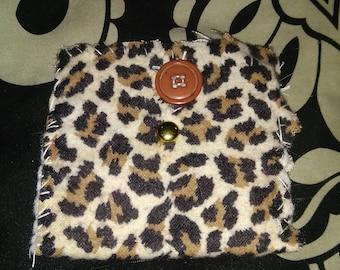 Leopard print coin purse