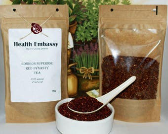 Rooibos Red Dynasty Tea 75g - Health Embassy - Organic