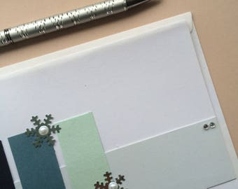 Blue Snowflake Christmas Card