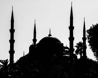 Photographie Fine Art de la mosquée Sultan Ahmet d'Istanbul en Turquie - Mosquée Bleu - Turquie