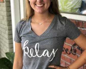 RELAX Graphic tshirt silkscreen / Graphic Tee / Gray tshirts / Plus Size Shirts