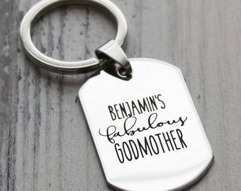Fabulous Godmother Personalized Key Chain - Engraved