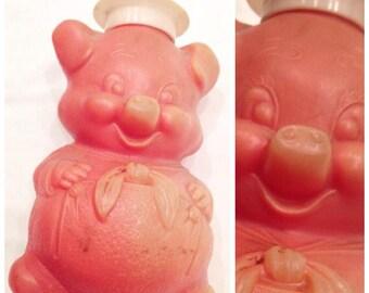 70s KITSCHY PIGGY BANK / vintage first federal aavings kitsch pink pig piggie cute