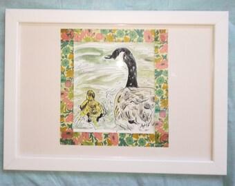 Geese Orignal Watercolour