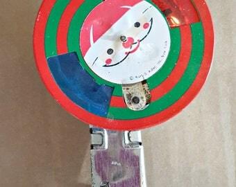 Vintage Christmas Santa Spinner toy - Vintage Stocking Stuffer - Vintage Sparkler Toy - Vintage Kurt Adler Christmas toy