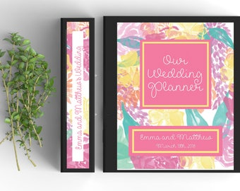 90 Page Wedding Binder; EDITABLE and PRINTABLE at Home! Custom Wedding Organizer