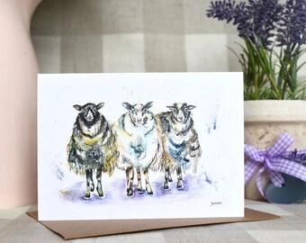 Three sassy ladies greeting card