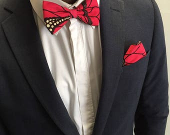 Bow tie red wax fabric