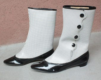 COLLECTOR! 1960's Gogo Boots Dead Stock - Iconic Sixties Shoes Size 37
