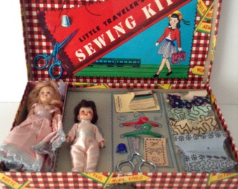 Vintage Children's Sewing Kit by Transogram