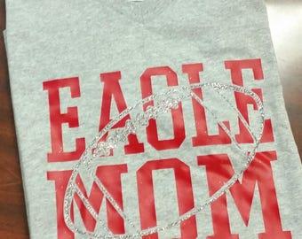 Football Mom Shirt, Football Mom T-Shirt, Football Mom Glitter Shirt, Football Mom Tee, Football Mom TShirt
