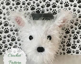 Westie Dog, Dog Crochet Pattern, Crochet Pattern Dog, Amigurumi Dog, Cup Cozy Pattern, Crochet Pattern, Mug Cozy Pattern, Crochet Westie