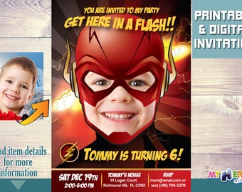 Flash Birthday Party Invitation. Get here in a Flash Birthday Invitation. Flash Invitation. Flash Birthday Ideas. Flash Party Ideas. 085