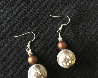 Floral Ball Dangle Earrings