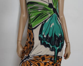 robe EROKE papillons made in ITALY taille 36 - uk 8 - us 4