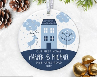 Our First Home Ornament First Christmas New House Gift  Housewarming Gift Realtor Gift Personalized Home Ornament