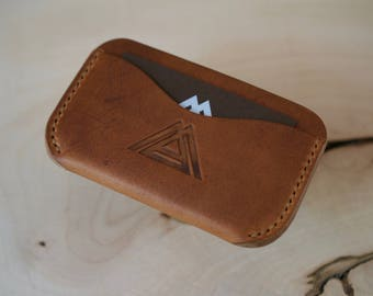 Horween Leather Wallet, Everyday Carry, Leather Card Holder, Mens Leather Wallet, Minimalist Wallet, Handmade Wallet, Leather Wallet Mens
