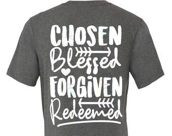 Chosen blessed forgiven redeemed svg - easter svg - christian svg - SVG, DXF, Eps, png Files - forgiven svg - redeemed svg - religious