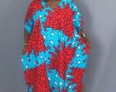 African print caftan dressAfrican print clothingmaxi dressmaxi skirtsAnkara dressdashiki dressrobe wax caftanred dress
