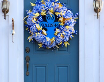 School Spirit Wreath ,  Go Team Wreath , Back to School Decor , Wreath With Sign , XL Deco Mesh Wreath , Custom Wreath , Wreath Obsessed