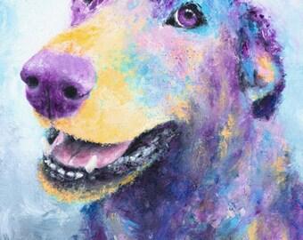 Labrador Retriever Dog Art Print - Dog Wall Art, Lab Print, Puppy Dog Eyes, Colorful Dog Print, Abstract Dog Art, Paw-some Dog Lover Gift!