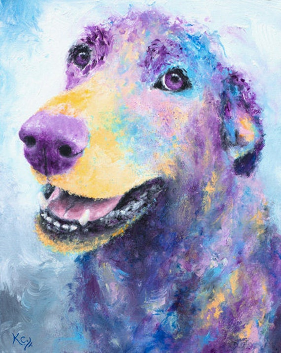 Labrador Retriever Dog Art Print - Dog Wall Art, Lab Print, Puppy Dog Eyes, Colorful Dog Print, Abstract Dog Art, Paw-some Dog Lover Gift!