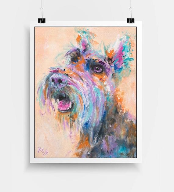 "Scottie Dog, Scottish Terrier Art - Scottie Dog Gifts, Scottish Terrier Gifts, Dog Wall Art, Dog Art, Art Print of My Dog Painting ""Hammie"""