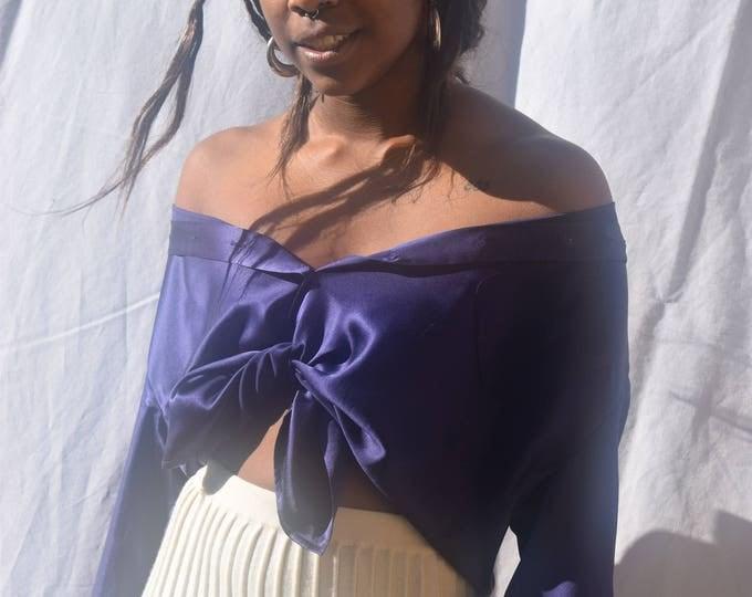 Cobalt Silk Long Sleeve Shirt - Print Optional