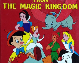 Vintage Walt Disney's Classic Tales From The Magic Kingdom Storybook, Alice in Wonderland Snow White, Peter Pan, Winnie the Pooh, Cinderella