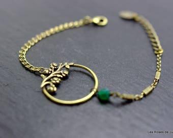 Bracelet art deco roses