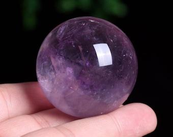 Amethyst Crystal Sphere Healing/Natural Amethyst Quartz Crystal Sphere Healing W007