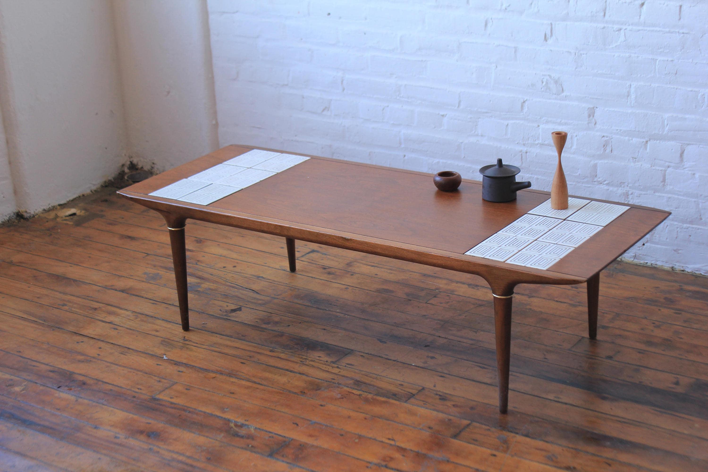Lane Cosmopolitan Tile Top Coffee Table