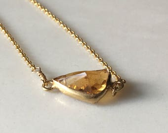 Citrine in Gold// Citrine Pendant Necklace in Gold