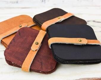 Grassfed Leather Coasters - Set of 4