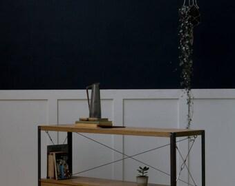 1.2m Oak INDUSTRIAL TV Stand, Cupboard, Console  [Bespoke sizes!] Rustic Reclaimed