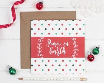 Peace on Earth Christmas Card - Christmas Card Sets -  Christian card - Christian Gifts UK