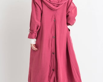 80s Pink Swing Tench Coat