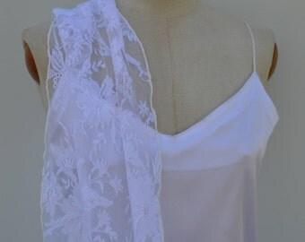 White lace shawl wedding stole white bridal lace shawl bride, Bridal, white shawl, woman shawl stole hides chic shoulder