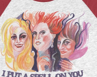 Sanderson Sisters shirt I put a spell on you Hocus Pocus Shirt Halloween Shirt  Winifred Sanderson shirt Witch shirt Funny Halloween costume