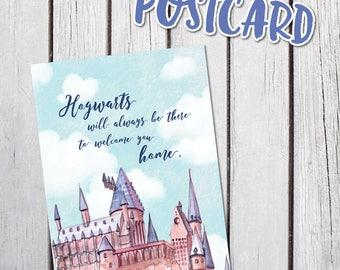 Harry Potter Hogwarts Planner Postcard Dashboard Divider