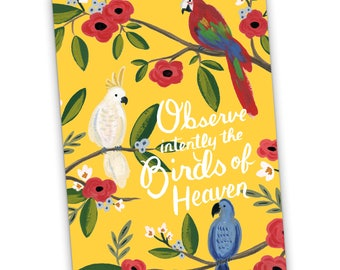 Observe Intently the Birds of Heaven - Matthew 6:26 Greeting Card, Encouragement card, JW, Jehovah's Witnesses, Scripture Card, JW Greeting