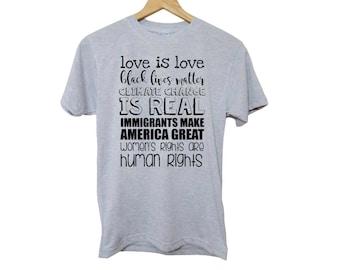 black lives matter shirt, protest shirt, civil rights, activist shirt, women's rights, resist, equality, feminist, BLM, rise up